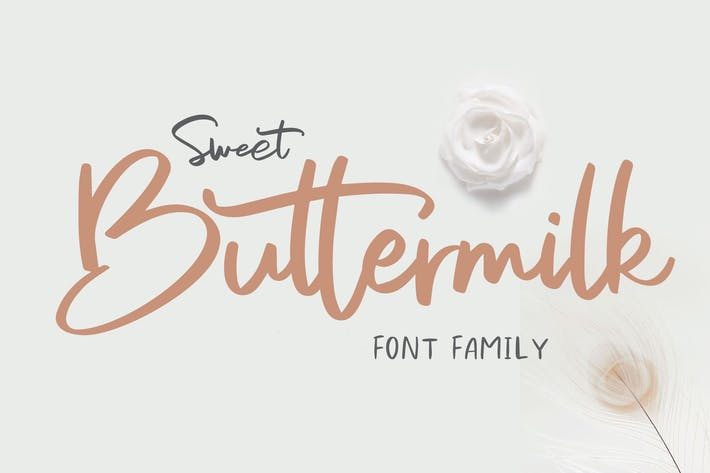 Thumbnail for Sweet Buttermilk - Font Family