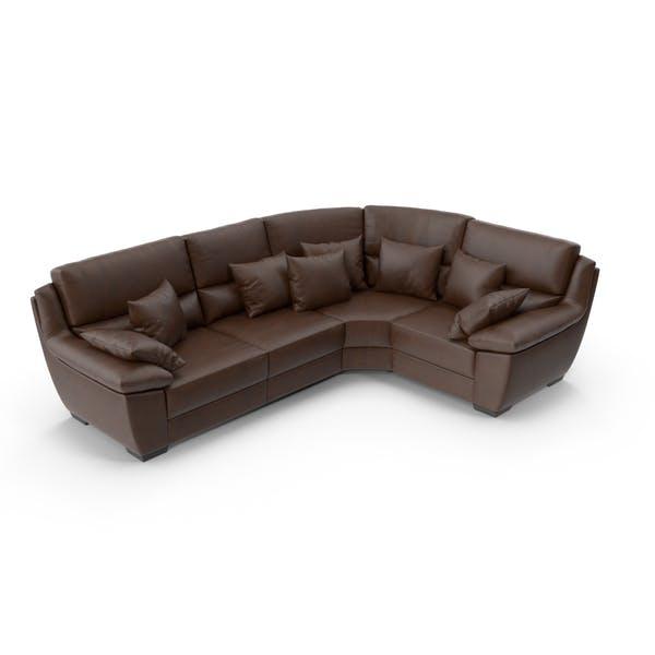 Corner Brown Leather Sofa