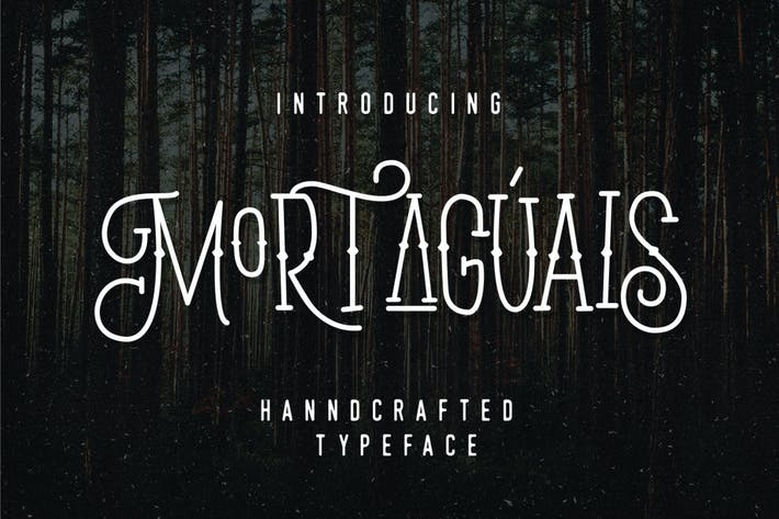 Thumbnail for Mortaguais Display Font Monoline