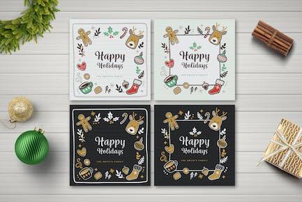 Holiday Social Media Posts & Holiday Card
