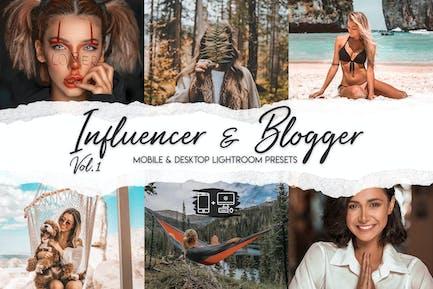 Инфлюэнсер и блоггер, том 1 - 15 премиальных LRPresets