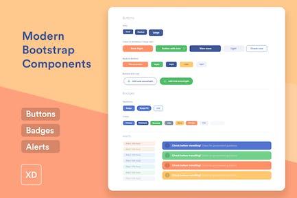 3 composants d'interface utilisateur Bootstrap modernes