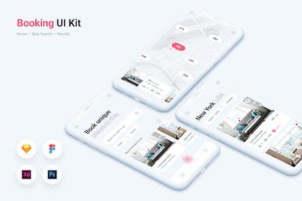 Booking & Rental Mobile App UI Kit Template