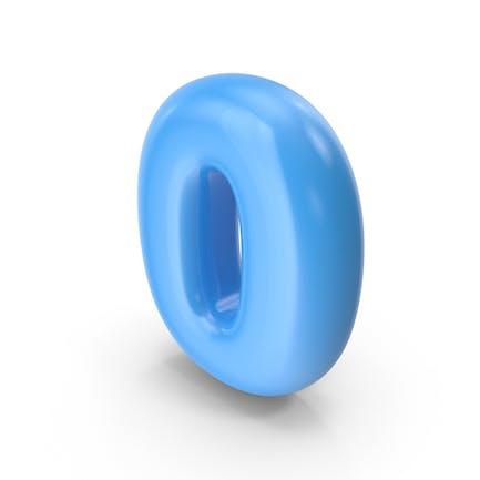 Globo Toon Azul Número 0