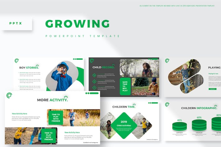 Thumbnail for Growing - Powerpoint Template