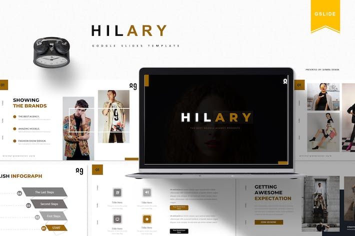 Thumbnail for Hilary |  Google Slides Template