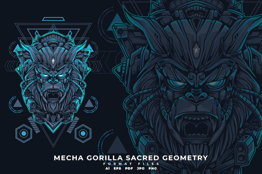 MECHA GORILLA SACRED GEOMETRY