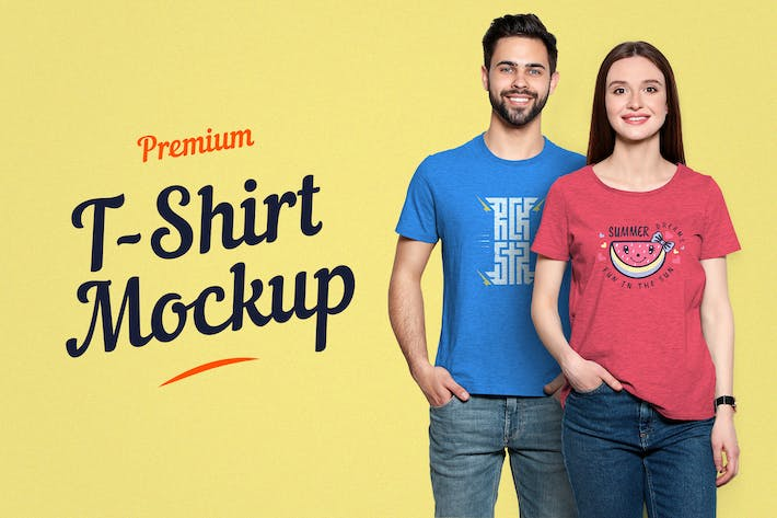 Thumbnail for Premium T-Shirt Mockup 09