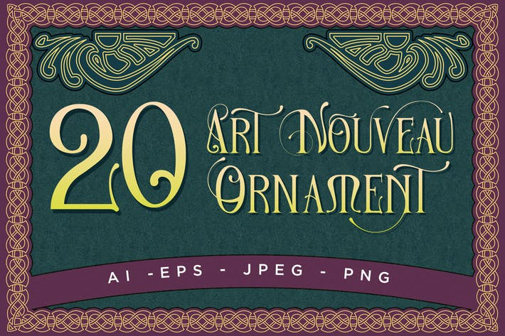 Thumbnail for 20 Art Nouveau Ornament