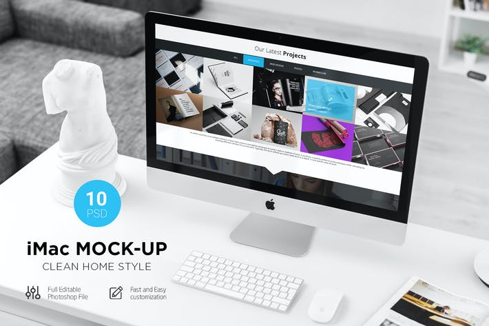 Thumbnail for iMac Desk Mock-Up