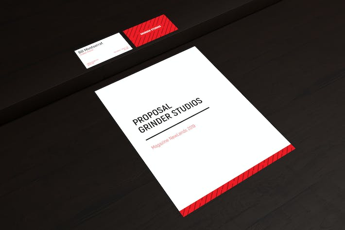 Cover Image For Business Card Mockup and Letter/A4 Mockup
