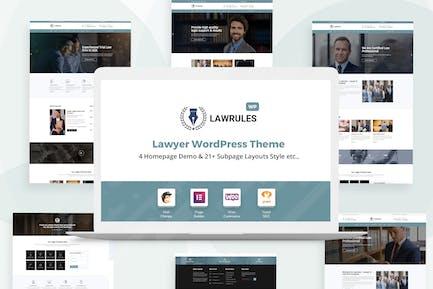 Normas legales   Tema de WordPress Abogado