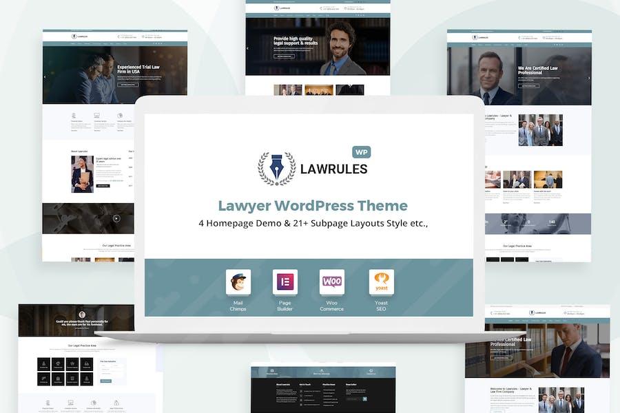 Lawrules | Lawyer WordPress Theme