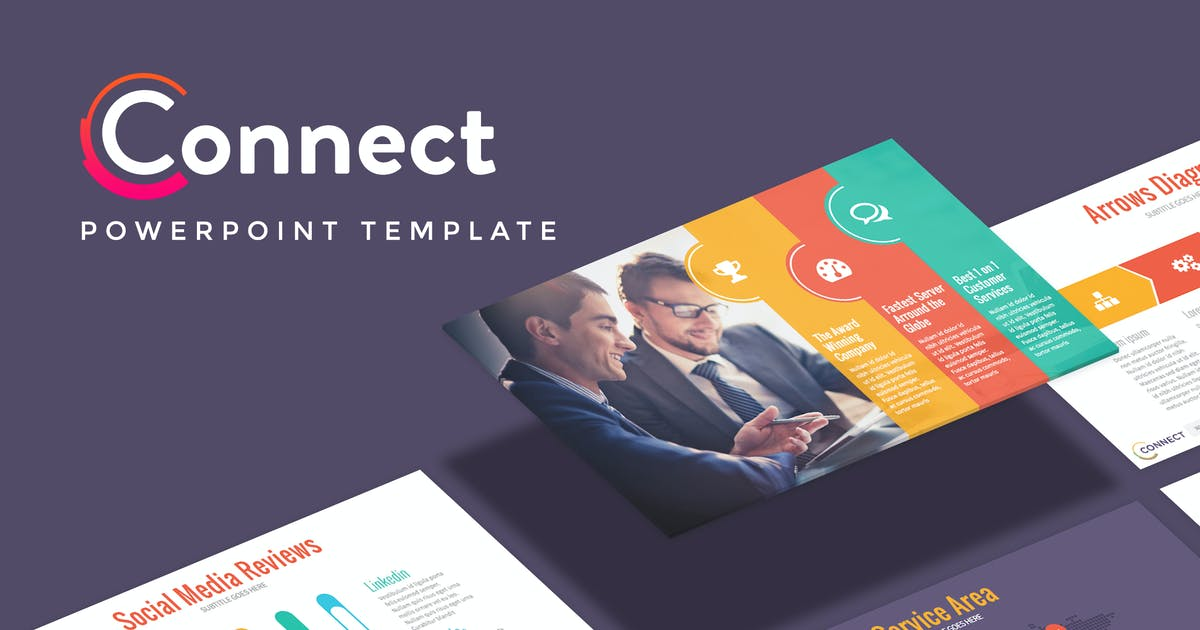 CONNECT - Marketing Powerpoint Template by Slidehack