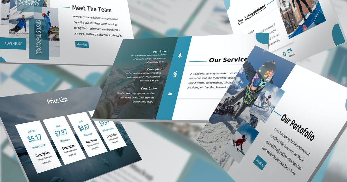 Download Rectoverso - Adventure Keynote Template by SlideFactory