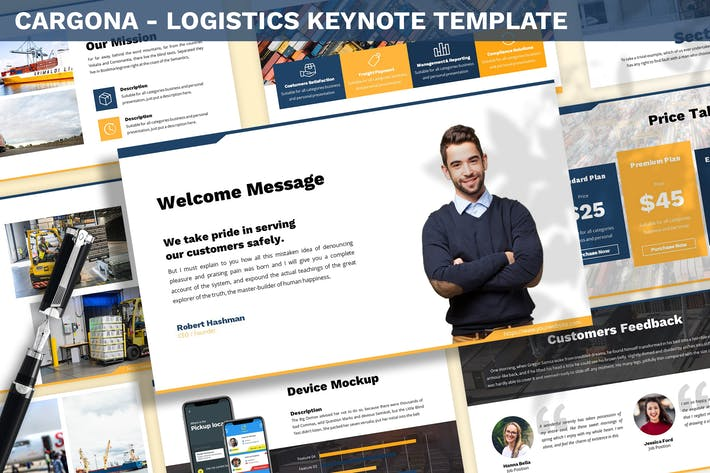 Thumbnail for Cargona - Logistics Keynote Template