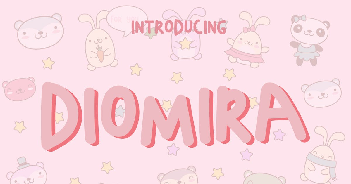 Download Diomira Display Font - [code FH] by GranzCreative