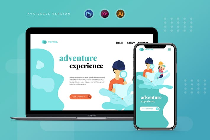 Thumbnail for Child Adventure  - Banner & Landing Page
