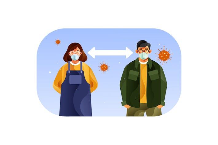 Thumbnail for Soziale Distanzierung, um eine Ausbreitung von Coronavirus zu vermeiden