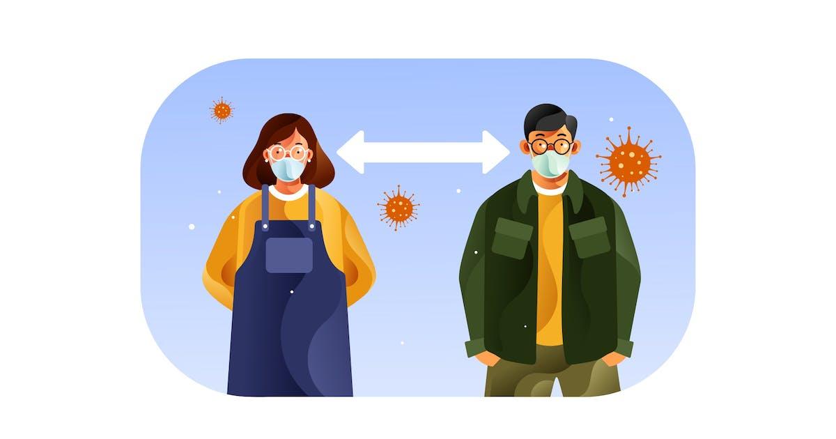 Download Social distancing to avoid spreading coronavirus by IanMikraz