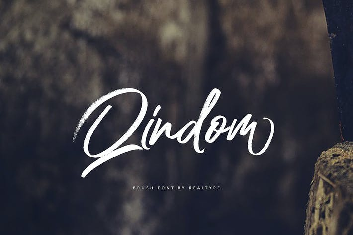 Thumbnail for Qindom Brush Fonts