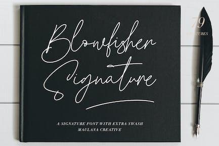 Blowfisher Signature Script Extra Swash