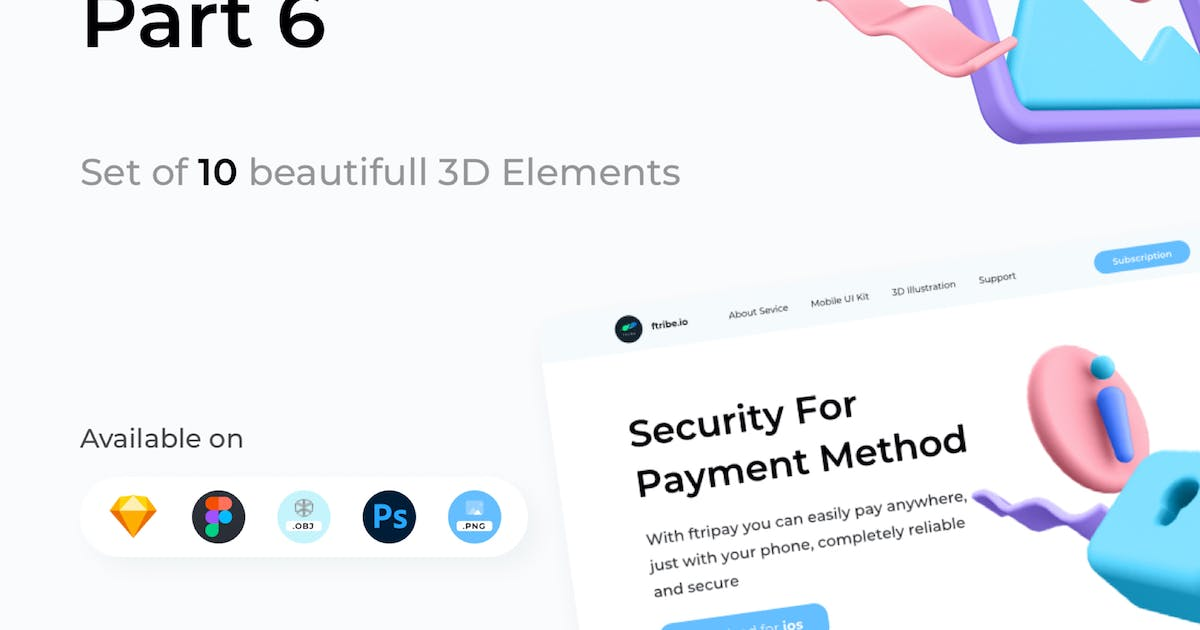 Download 3D Elements Kit - Library Part 6 by angelbi88