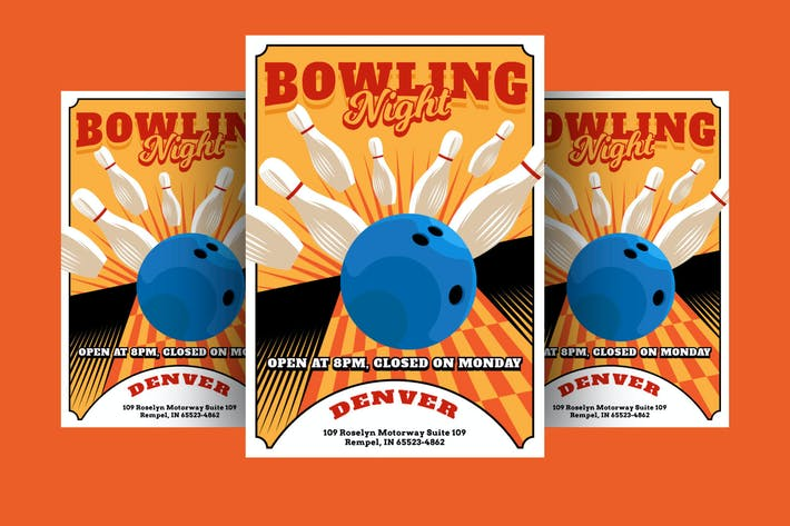 Thumbnail for bowling night Flyer