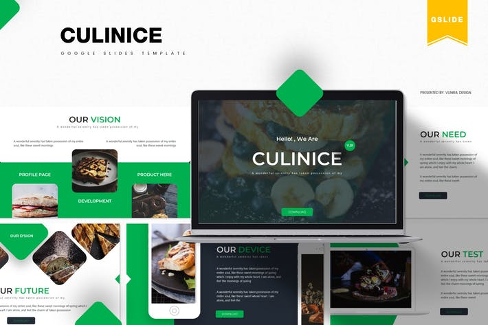 Thumbnail for Culinice| Google Slides Template