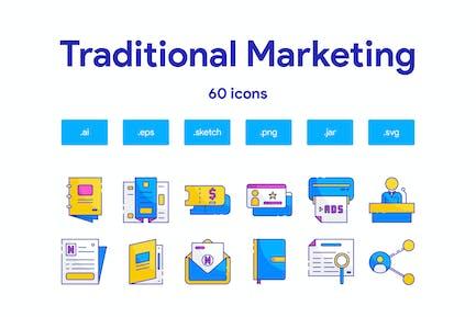 Traditional marketing Icon Set