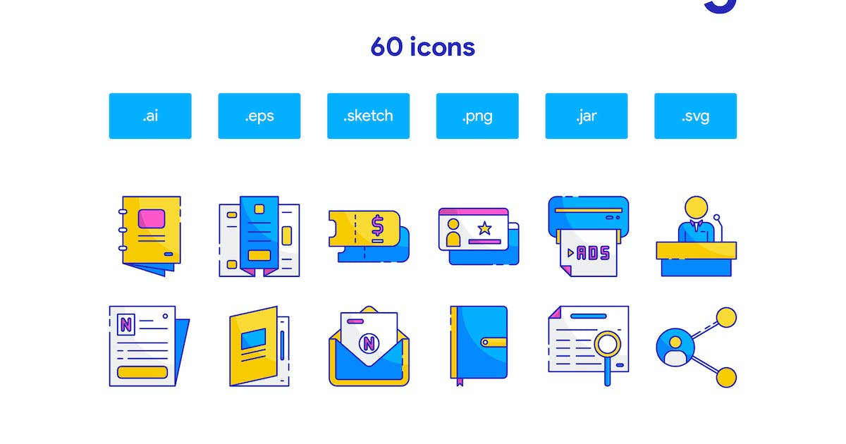 Download Traditional marketing Icon Set by TanahAirStudio