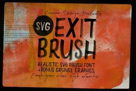 Exit Brush & SVG Font