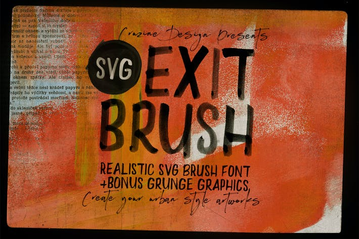 Thumbnail for Exit Brush & SVG Font