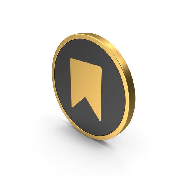 Marcador de iconos de oro