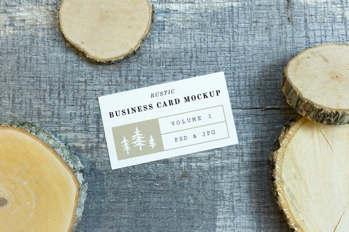 Thumbnail for Rustic Business Card Mockup Vol. 1