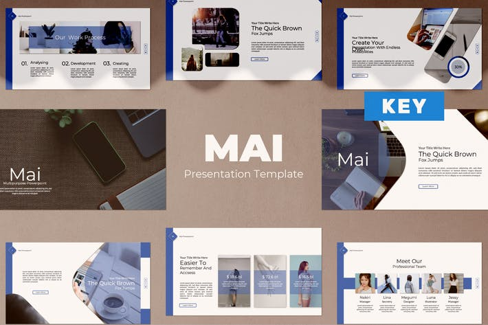 Thumbnail for Шаблон Keynote Mai