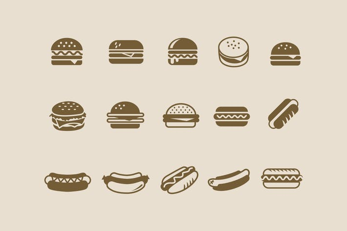 Cover Image For 15 Burger Hot Dog Icons