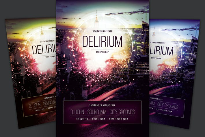 Cover Image For Delirium Flyer
