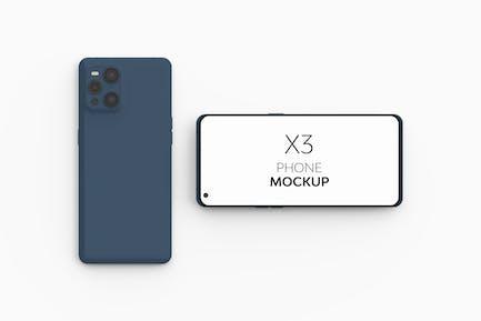 X3 Telefon-Mockup