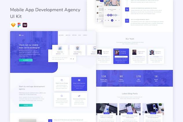 Mobile App Development Agency UI Kit