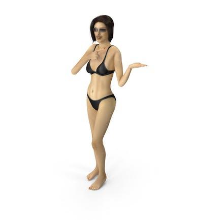 Bikini Girl Presenting