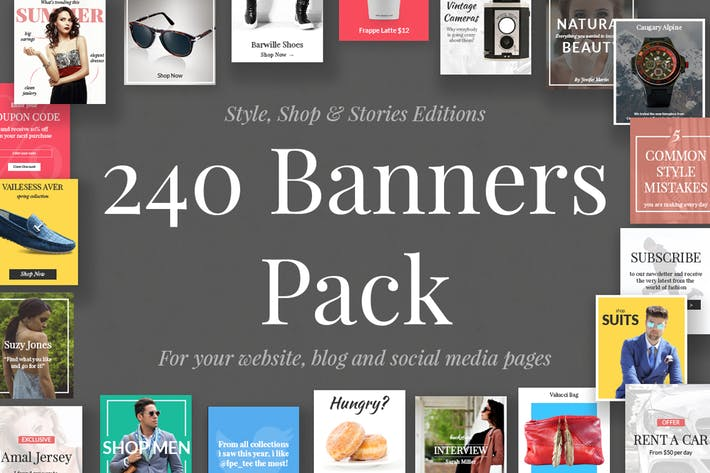 Cover Image For 240 Banners Pack