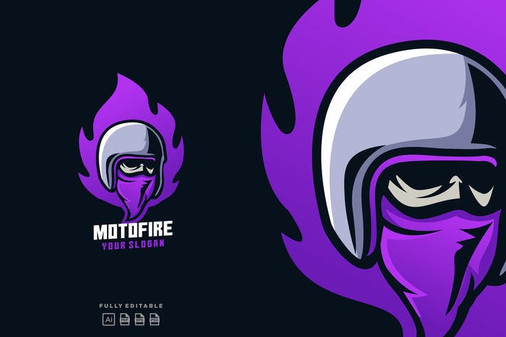 Thumbnail for Moto Fire Helmet