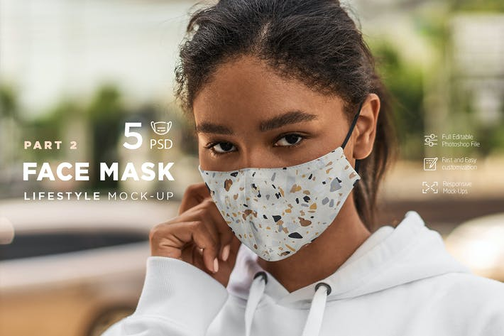 Thumbnail for Face Mask Mock-Up Lifestyle vol.2