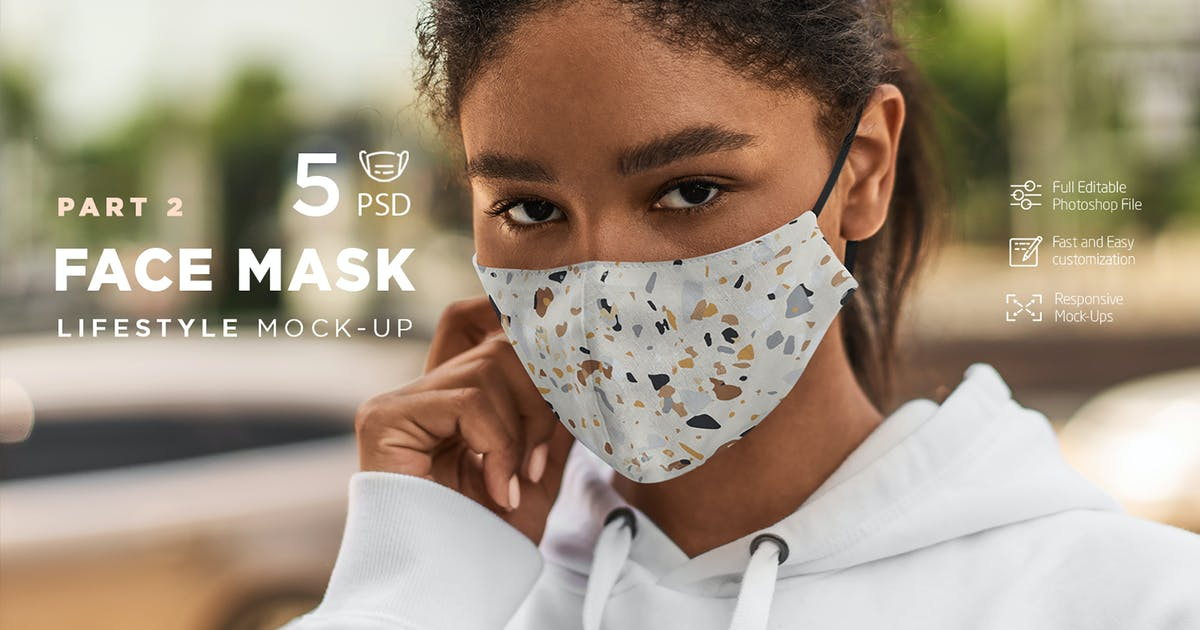 Download Face Mask Mock-Up Lifestyle vol.2 by Temaphoto