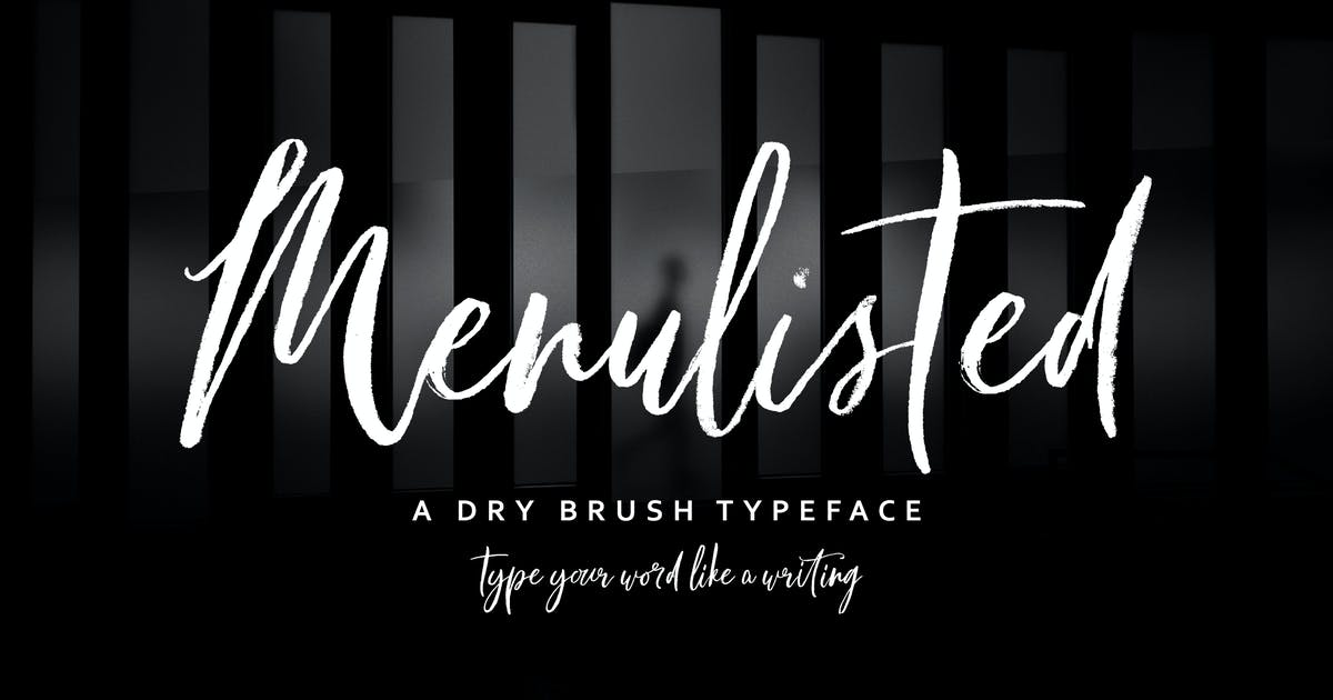 Menulisted Brush Script by Siwox