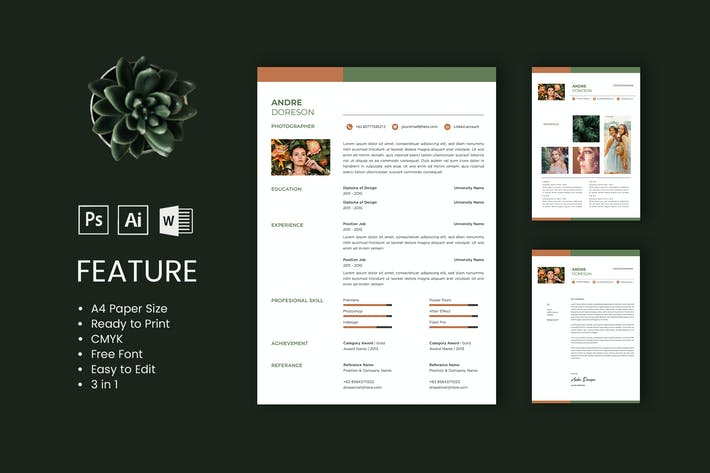 Thumbnail for Professional CV And Resume Template Andre