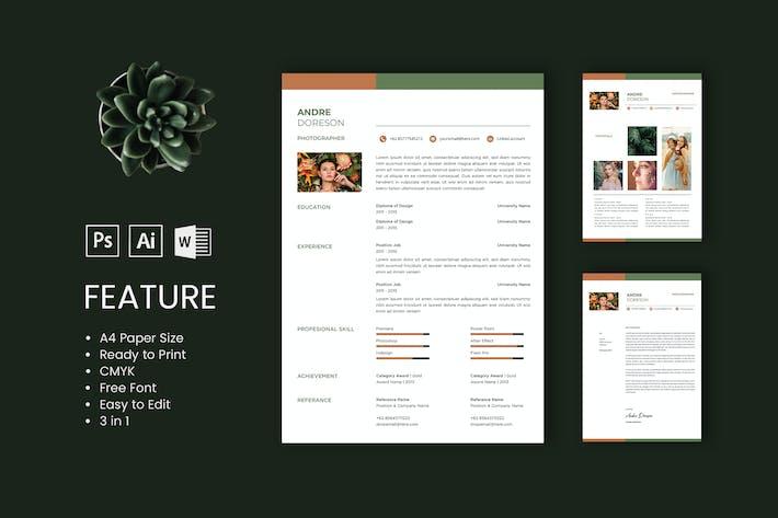 Thumbnail for Modèle de CV professionnel et CV André