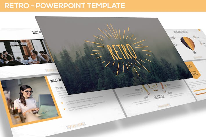 Retro - Powerpoint Template by inspirasign on Envato Elements