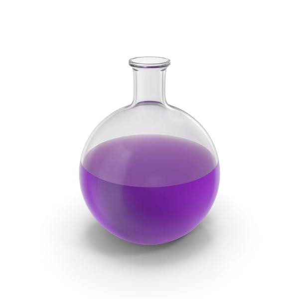 Алхимическая колба большая фиолетовая